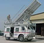 8 ft wide x 12 ft long Vehicle Mounted Ramp System